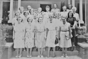 Garden Club Late 1940's Summerville, at home of Mary McGinnis