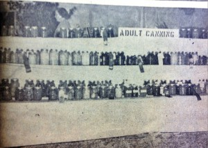 Canning display 1955 Chattooga County Fair