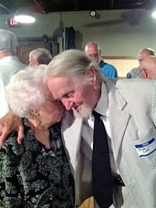 Famed attorney Bobby Lee Cook greets longtime friend Margaret Fulton