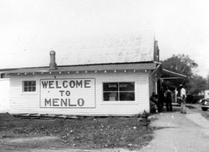 Welcome to Menlo, drop by for a shoe shine !