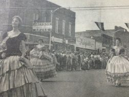 A scene from the 1961 One Hundred Year Civil War Celebration parade