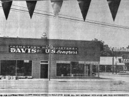 John Davis for Congress 1960,in the old Alred Ford (today BBT and CVS lot)