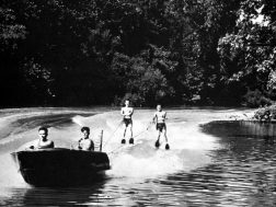 Water skiing on the Chattooga River, Picture was used in publication to attract industry in the 1950's