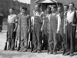 Students at Lyerly School were part of the Home Guard during World War II