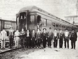 Confederate veterans going to a reunion in 1919
