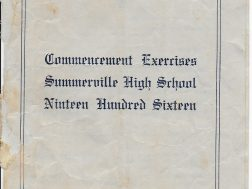 Program Summerville High Graduation 1916, Ceremony held at the courthouse