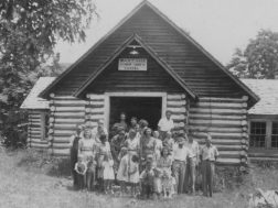 Wayside Community Church ( at the foot of Taylor Ridge) in 1947
