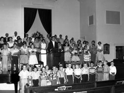 Summerville 1st Baptist adult and youth choirs mid 1950's