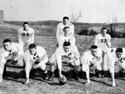 The 1958 Menlo High Tigers Football lineup.