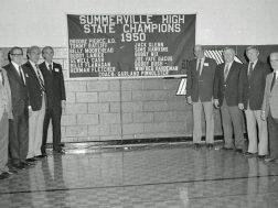 1950 State Basketball champions honored in early 1980's