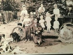 The Cavin Family in Menlo pose for a photo in the early 1920's