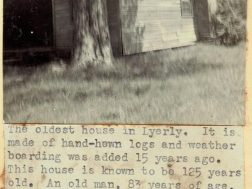 Interesting history featured in 1951 Lyerly scrapbook