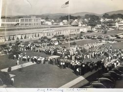 A flag raising ceremony at Trion Mill 1941