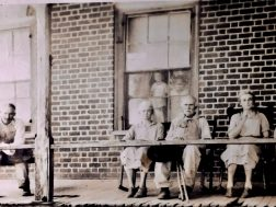 The Allmon family were sharecroppers and lived at one of Chattooga's oldest homes, the Price House below Lyerly