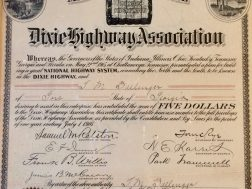 The Dixie Highway was built through the county in the years around 1920.