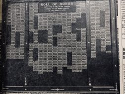 Trion Mill employees who were in the service during WWII were on the Roll of Honor at the Mill