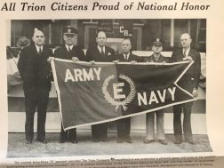 Trion Mill won Army Navy E award for contribution to the war effort in 1943