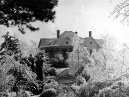 Beulah Shropshire home overlooking Summerville in the snow. Beulah was the first woman licensed insurance agent in Georgia.