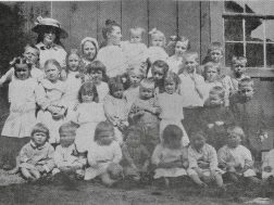 Della Weesner's Sunday School class in Shackleton ( a short lived mining town near Gore)