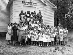 Vacation Bible School at 4 Mile Baptists Church 1950's