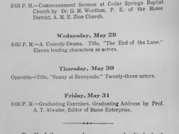 Closing program, Holland Training School 1929